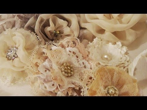 How to make Shabby Chic Flowers video ♡