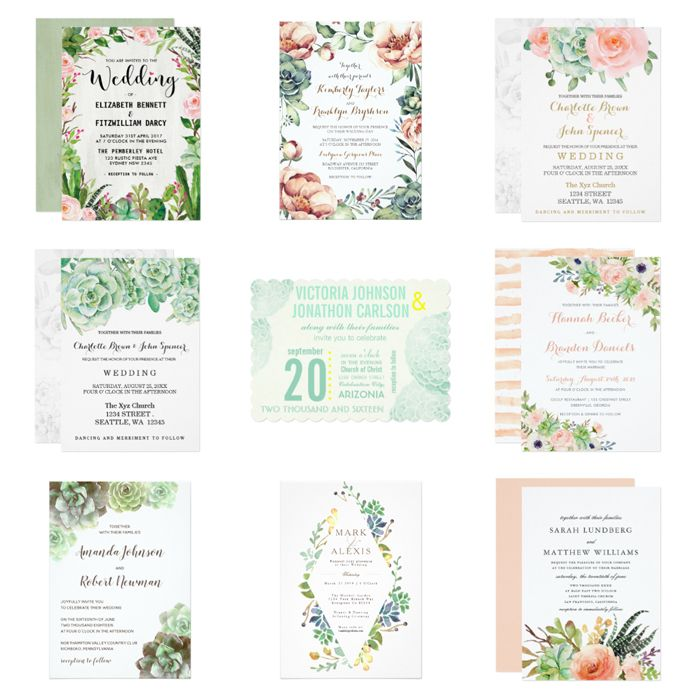 33 best succulent wedding images on pinterest watercolor beautiful wedding invitations with succulents to customize and print via zazzle solutioingenieria Gallery