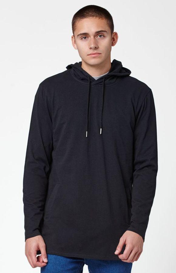 PacSun Lost Hooded Zipper Long Sleeve T-Shirt