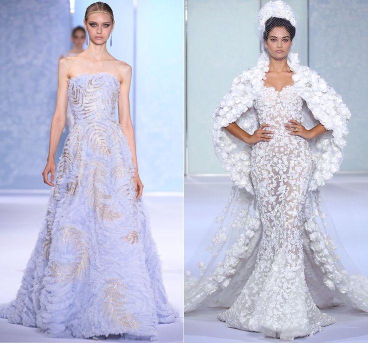 Белые свадебные платья от Ralph & Russo Осень-Зима 2016-2017 Couture на неделе моды в Париже