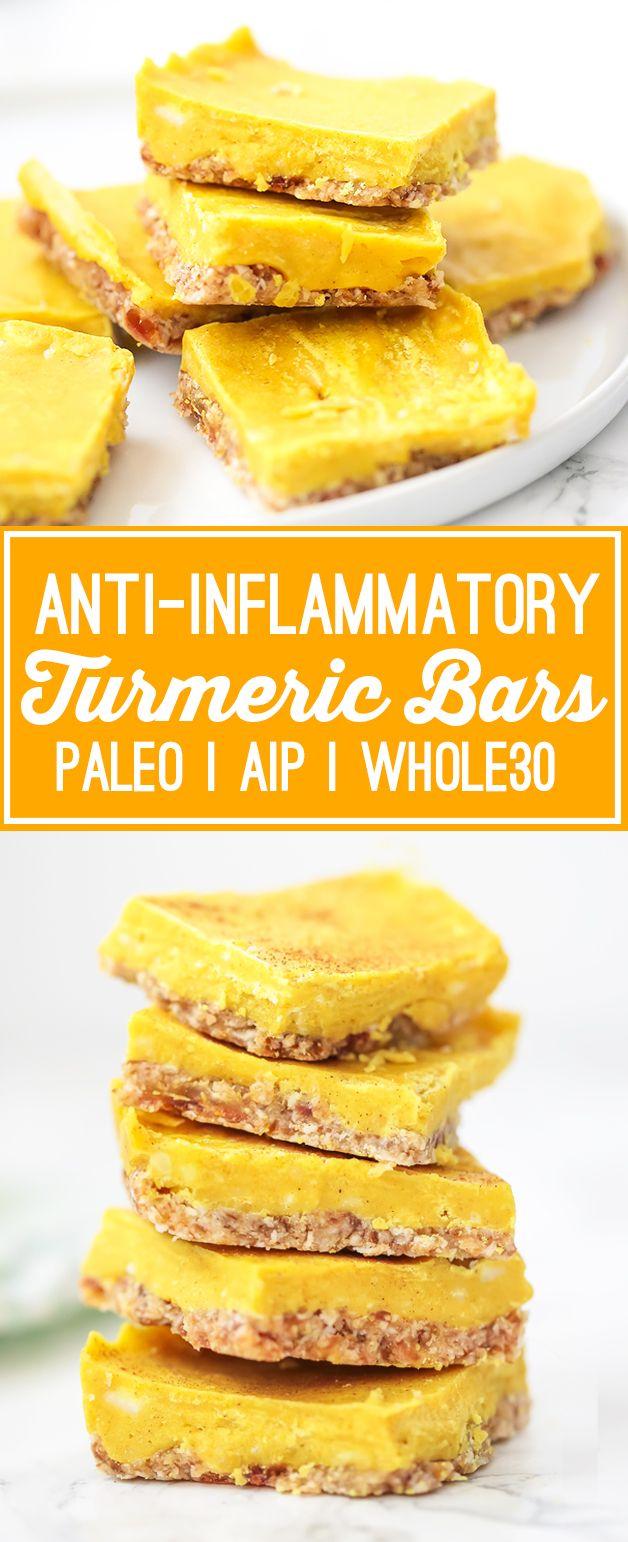 Anti-inflammatory Turmeric Bars (Paleo, AIP, Whole30)