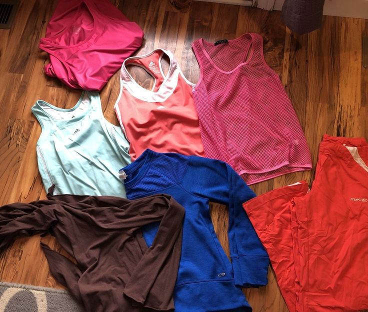 Lot Of Women's Athletic Wear Tank Pants Adidas Lucy C9 Exercise Clothes S Small  | eBay