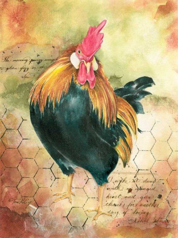 A Winged Heart Rooster by Toni on Etsy, $25.00