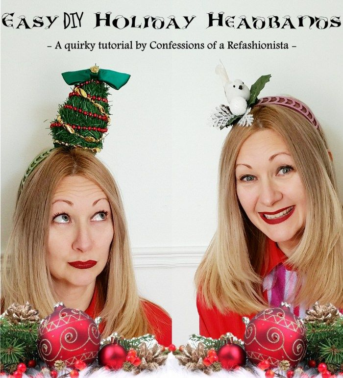 Raid your stash & create the ultimate whacky holiday accessory with my latest festive video tute - hilariously easy DIY holiday headbands