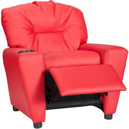 Flash Furniture Kids' Vinyl Recliner with Cup Holder, Multiple Colors - Walmart.com