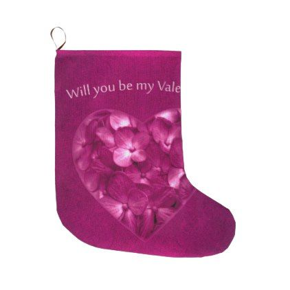 Valentine Day Print Design Large Christmas Stocking - valentines day gifts love couple diy personalize for her for him girlfriend boyfriend
