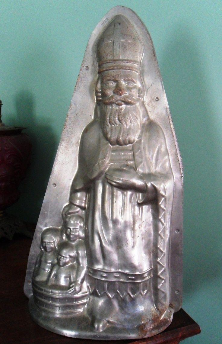 Sint Nicolaas met de drie kinderen, chocolademal