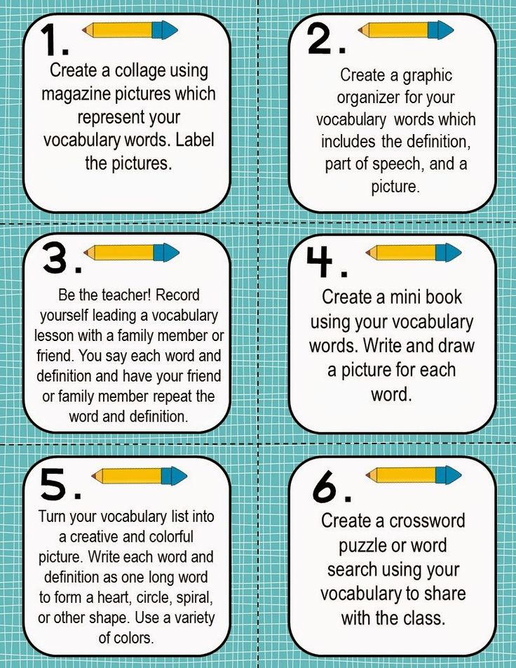 FREE! Vocabulary Activities Task Cards