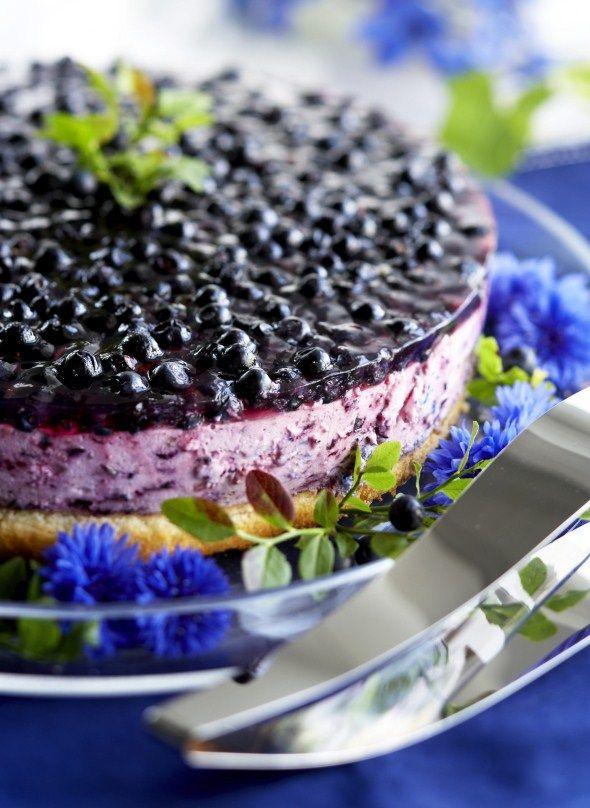 Hyydytetty mustikkakakku, resepti – Ruoka.fi - Blueberry cheese cake