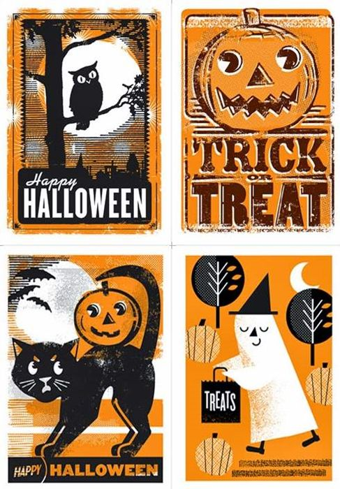 Halloween greeting card collection by L2 Design Collective #socialmedia #marketing   www.bellestrategies.com