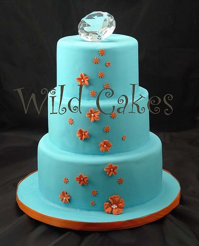 Blue and orange cake!