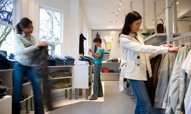 Radio Frequency Identification (RFID) tags in apparel help shoppers and retailers.