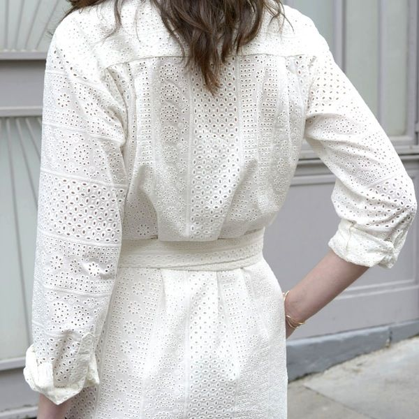 Robe chemise Cécile broderie anglaise - MAISON BRUNE