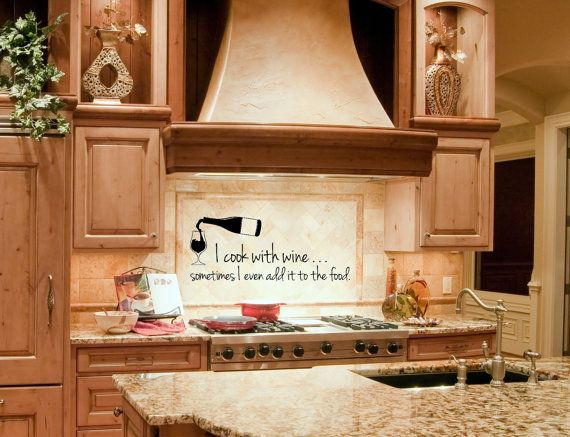 Kitchen Wall Decal Wine Wall Decal Wine By FourPeasinaPodVinyl, $16.15