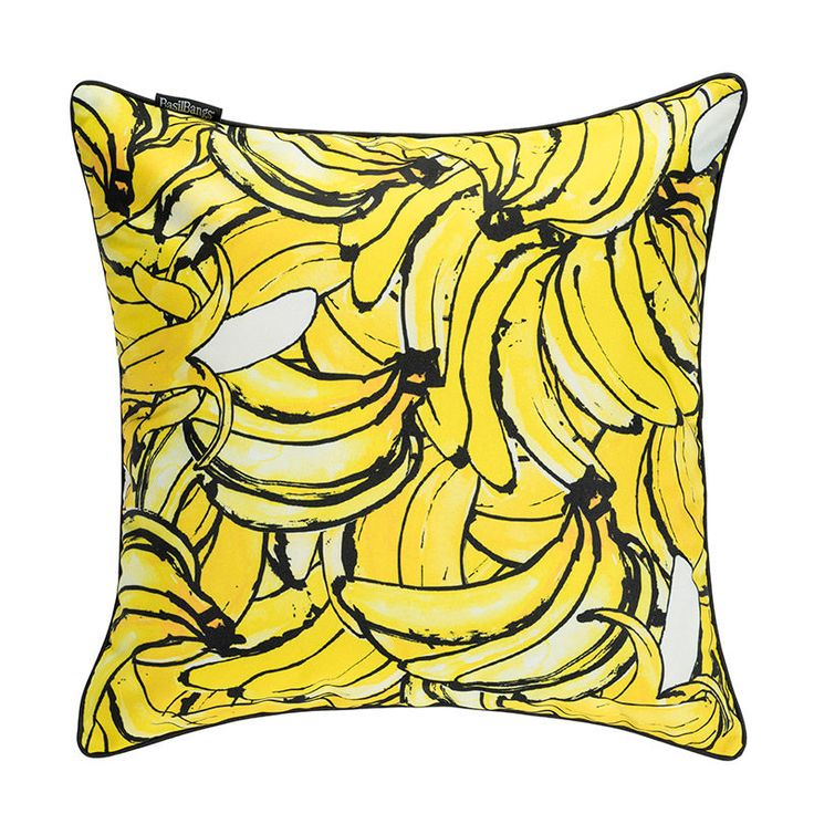 top3 by design - Basil Bangs - bananas cushion 50x50