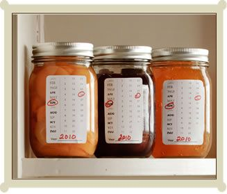 Mark the Calendar-Canning Labels