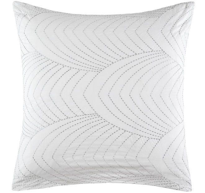 kas-white-florence-european-pillowcase-white