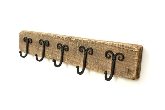 Coat hanger  Wall mounted wooden coat rack  Vintage by BatLab