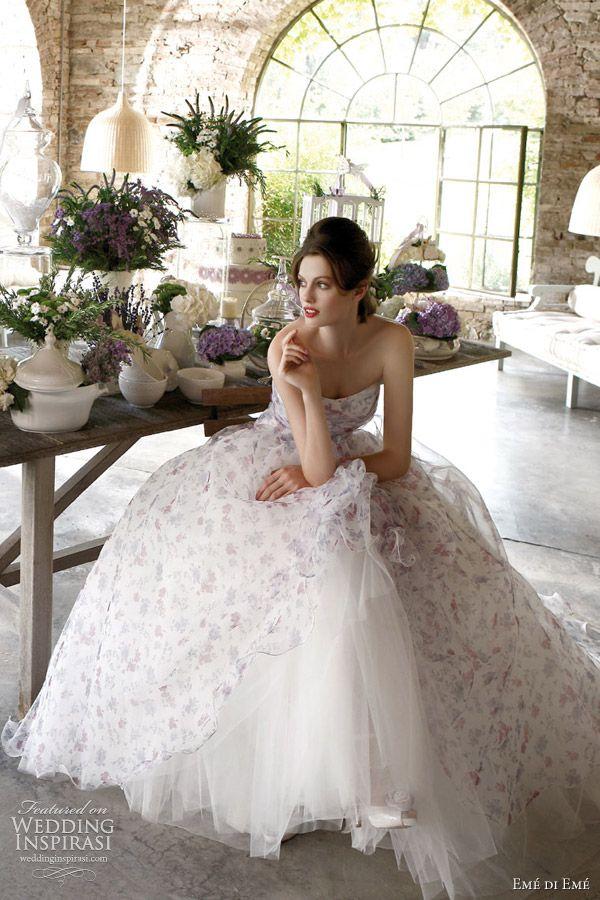 Inspiração:Vestido de noiva estampado