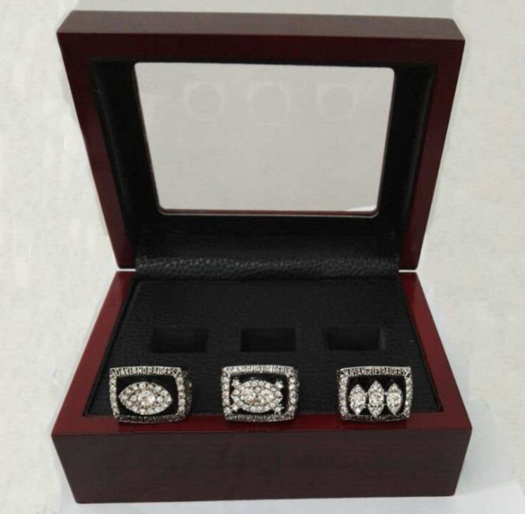 Drop Shipping For  Super Bowl 3 Years Sets 1976/1980/1983 Oakland Raiders Championship Ring With Wooden Boxes