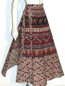 Wrap skirt - popular in the 1970's