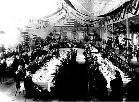 Here we see the official state luncheon where the rose bowl was presented. The two gentlemen in the foreground turned towards us are Imperial Manchu Prince Yu Lang and Rear Admiral Seaton Schroeder of the United States Navy. Although this particular occasion was special, the fact that a piece of Chinese Export Silver has the capacity to take one on a journey of social history is not unusual; in-point-of-fact, it is extremely common and very much part of the attraction of this silver…