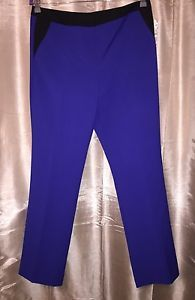 NEW Worthington Hip Electric Blue Black Pant NWT 12 Modern Fit Slim Leg Trouser