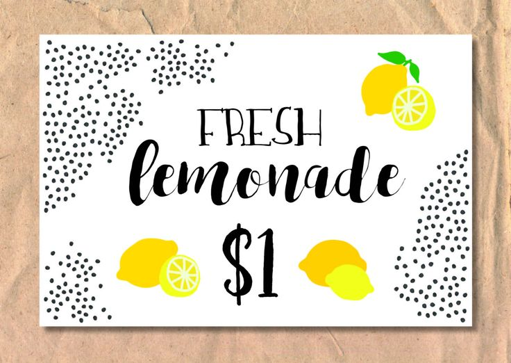 Lemonade Stand Sign/Poster by FrellaDesigns on Etsy