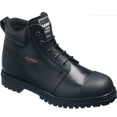 Black leather ankle boot,Safety shoes, Light weight safety shoes