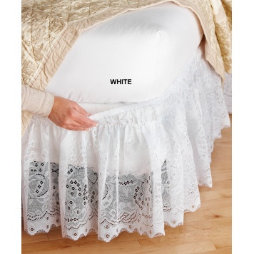 Lace Wrap-Around Bedskirt $24.99
