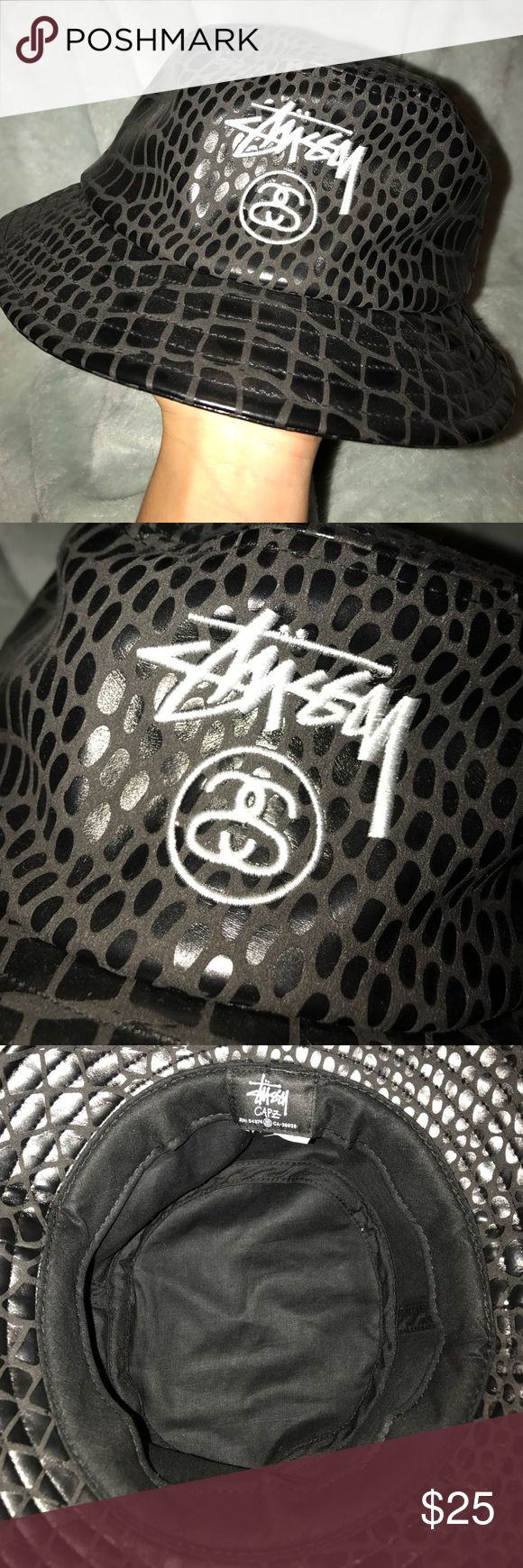 STUSSY BLACK BUCKET HAT Never used and in perfect condition. I am up for trades, just leave a comment. Bundle to save money. Flexible on pricing. Don't forget to check out other listings. 💫 Accessories Hats