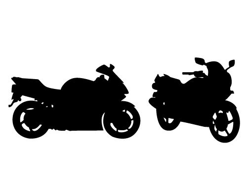 Stunning View of a Motorcycle Silhouette Vector Free Download