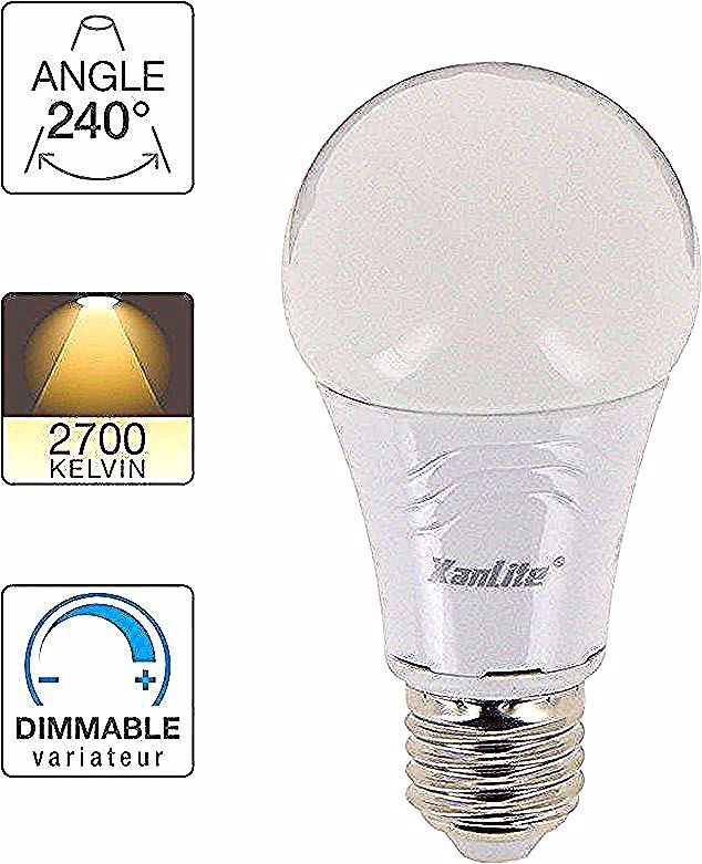 Ampoule Led A60 Culot E27 9 4w Cons 60w Eq Lumiere Blanc Chaud Xanlite In 2020 Light Bulb Kelvin