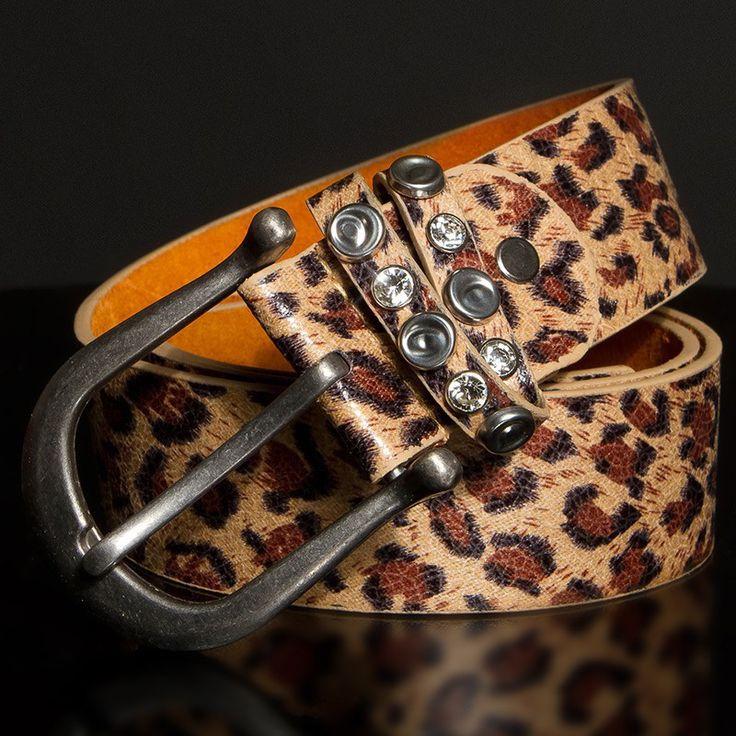 Ceinture femme fashion MARIELLA couleur léopard/marron