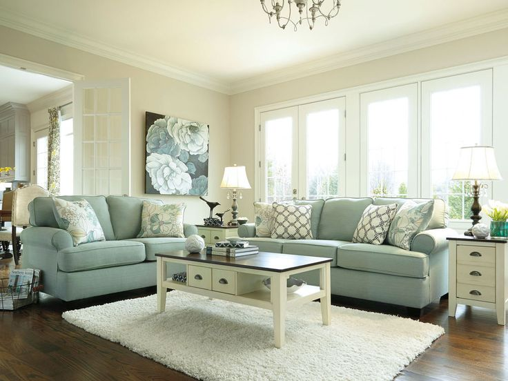 PARKSIDE - MODERN BLUE MICROFIBER SOFA COUCH LOVESEAT SET LIVING ROOM FURNITURE #New #Contemporary