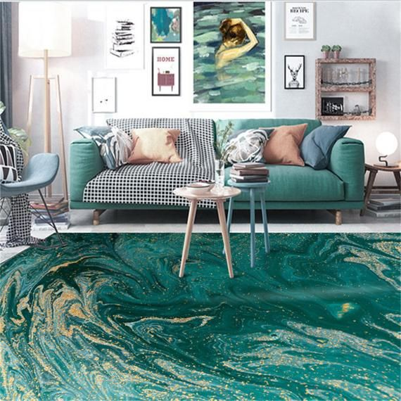 Carpets For Living Room Christmas Rug Abstract Sea Water Green Etsy In 2020 Green Rug Living Room Living Room Carpet Living Room Area Rugs #patterned #carpet #living #room