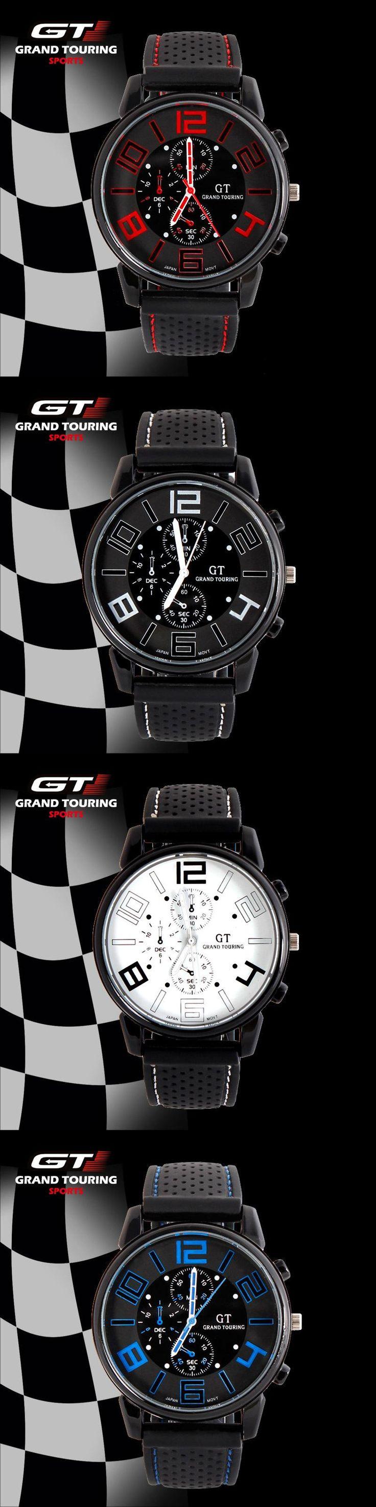 GT WATCH Brand Grand Touring Men Women Silicone Strap Quartz Watch F1 Car Racing Style Military Sports Wristwatch 2016 New