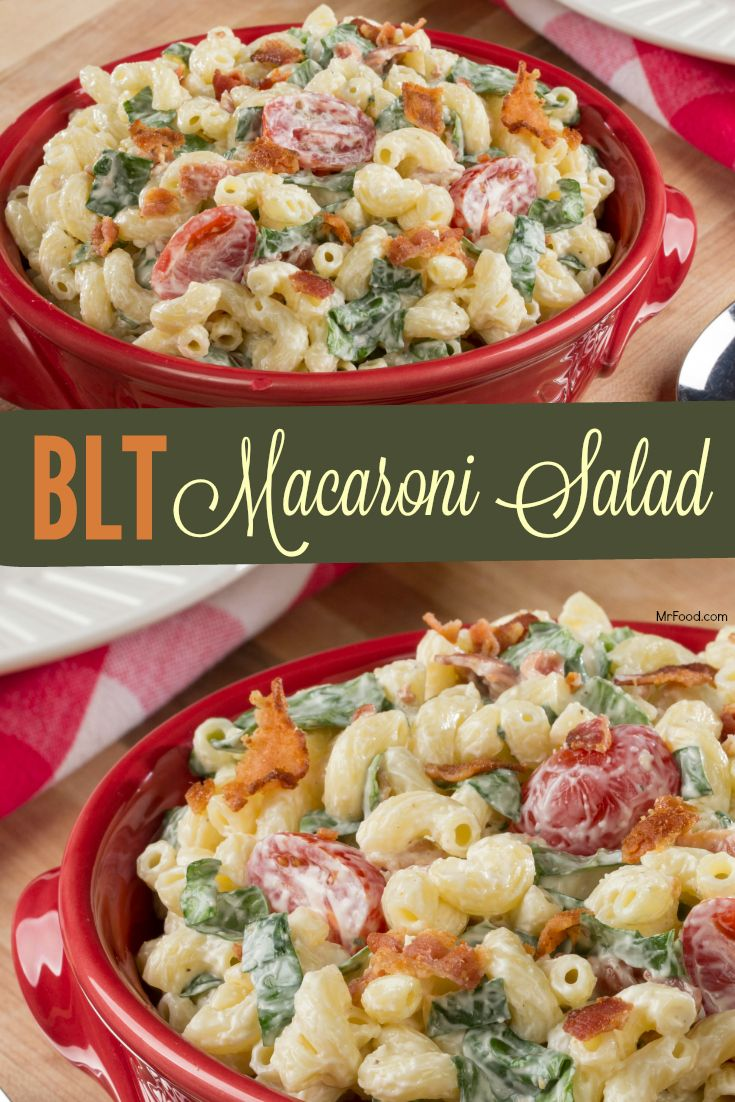 Our BLT Macaroni Salad is a flavorful twist on a classic that's sure to be a hit at your next office potluck!