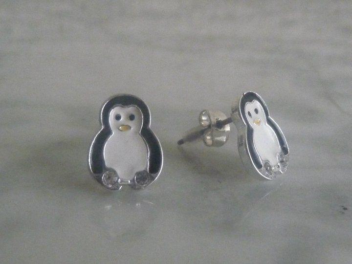 Pendientes - pingüino.