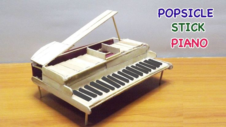 Popsicle Stick Crafts | DIY Miniature Piano - Easy steps