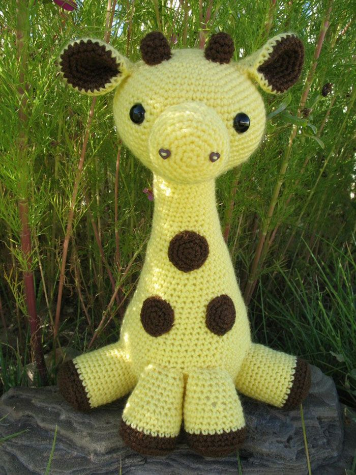 "I love this amigurami giraffe.  It's fairly easy to crochet and super adorable.  Reid would love this ""Melman"" giraffe"
