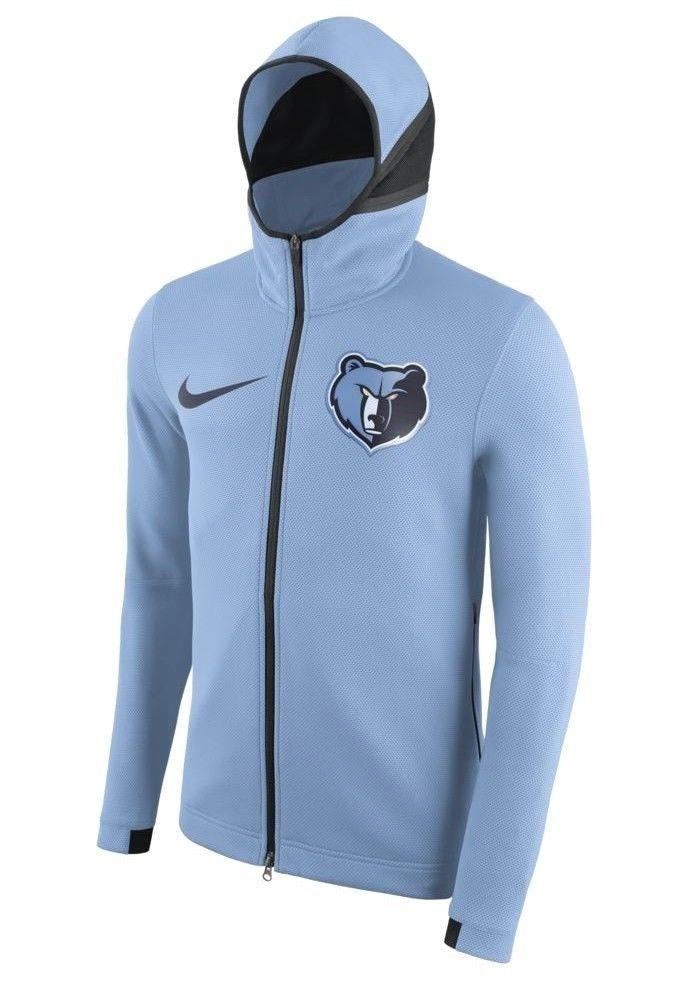 9021ea0edeb1 Nike Memphis Grizzlies NBA Therma Flex Showtime Hoodie Mens Light Blue  Nike