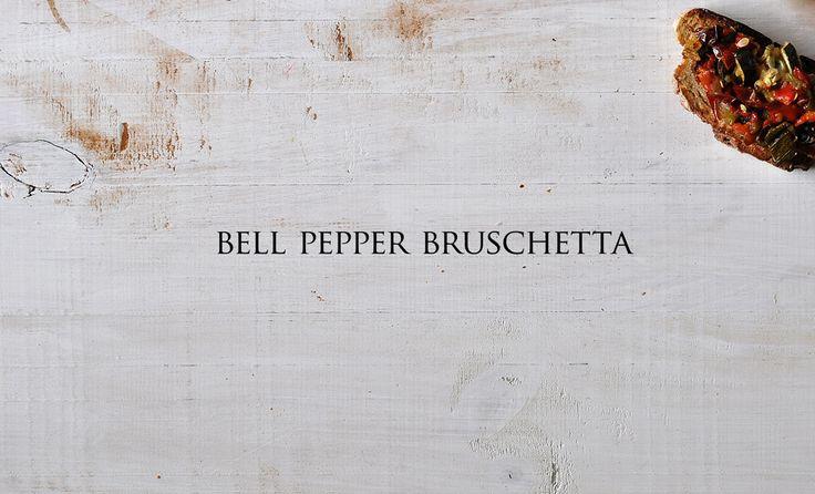 Bell Pepper Bruschetta * Bruschetta de Pimentos Vermelhos