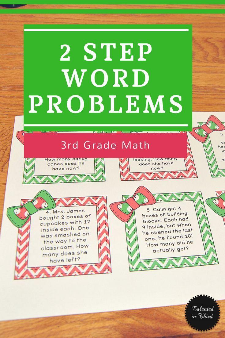 3rd Grade Christmas Math Activity 2 Step Word Problems Math Grade 3 Fun Math Lessons Christmas T Christmas Math Worksheets Word Problems Math Word Problems [ 1102 x 735 Pixel ]