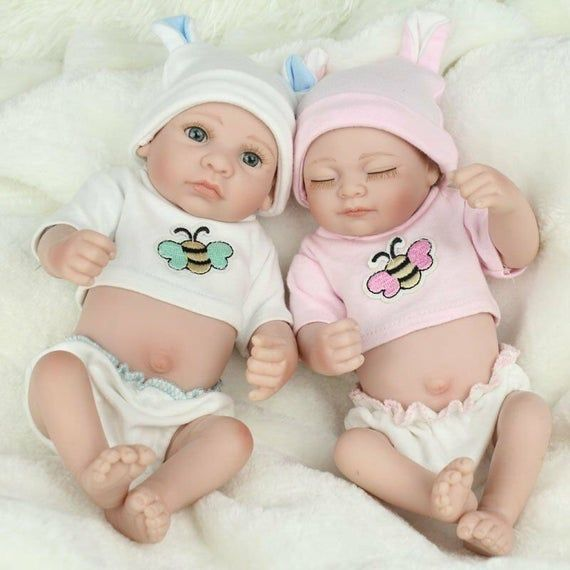 Description Twins Baby Dolls Features Size Approx 10inch Head To Toe Weight Approximately 1 Lb Material Head An Baby Dolls Reborn Baby Dolls Reborn Babies