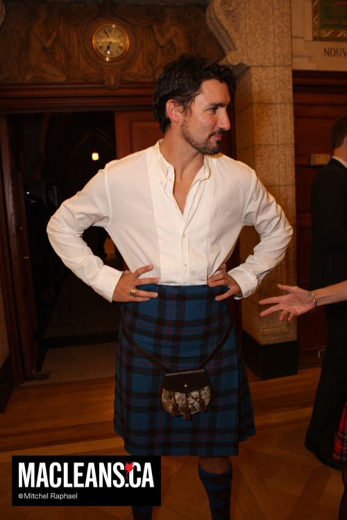 Justin Trudeau in a kilt