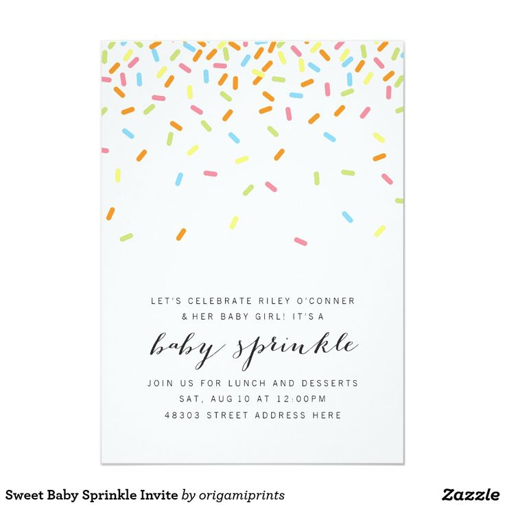 15 best Baby Sprinkle Invitations and Ideas images on Pinterest ...
