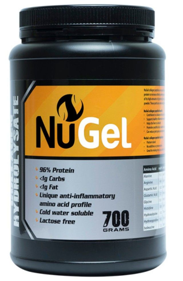 Australia Gelatin  by NuStrength.   Collagen is the most important protein in connective tissue, skin, and bones; you actually have more collagen in your body than any other type of protein.