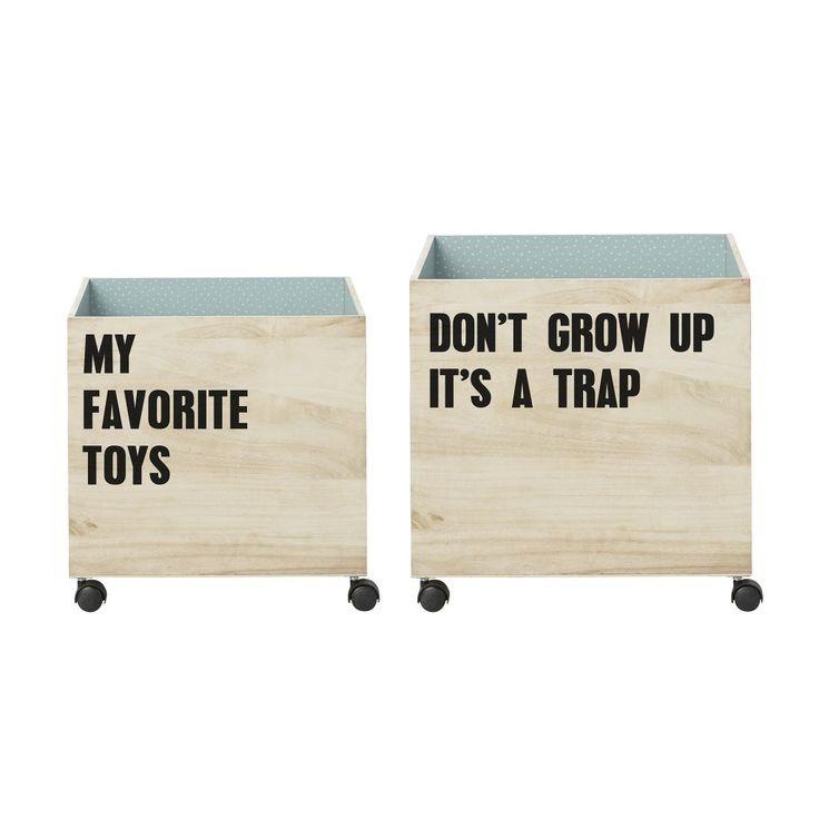 Bloomingville / Úložný box na kolečkách Favorite Toys - 2 druhy