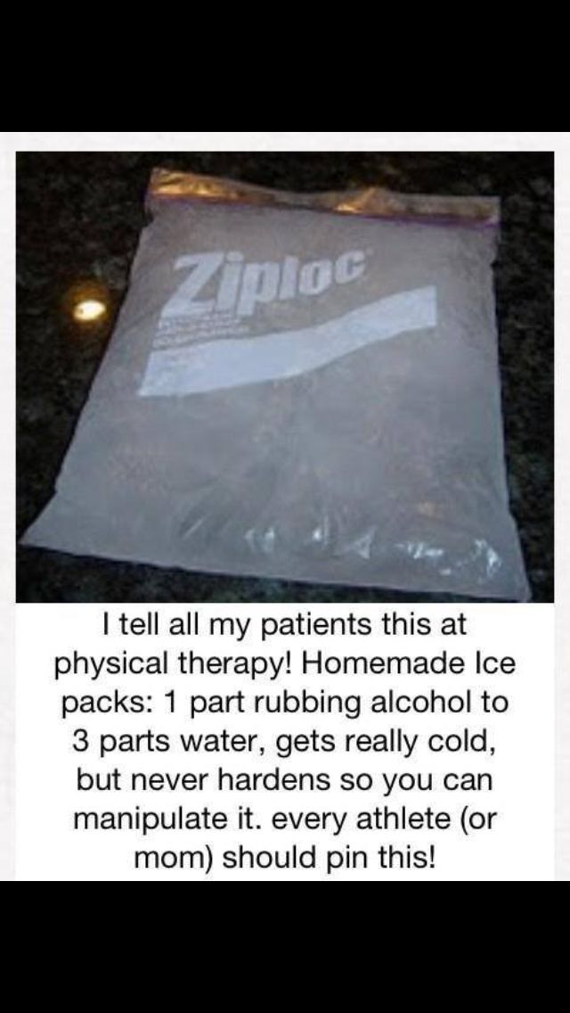 Homemade cold pack